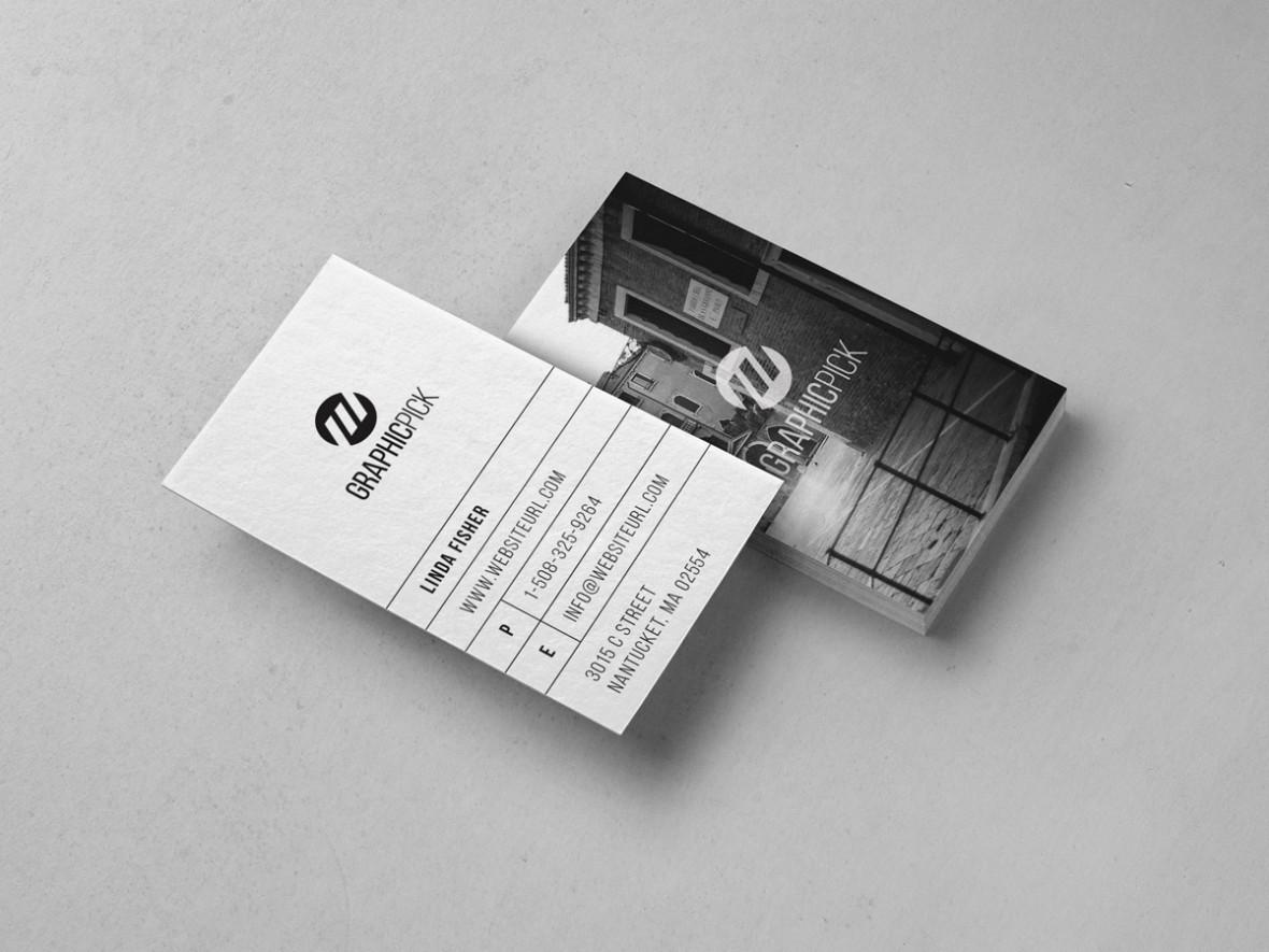 clean minimal photo business card