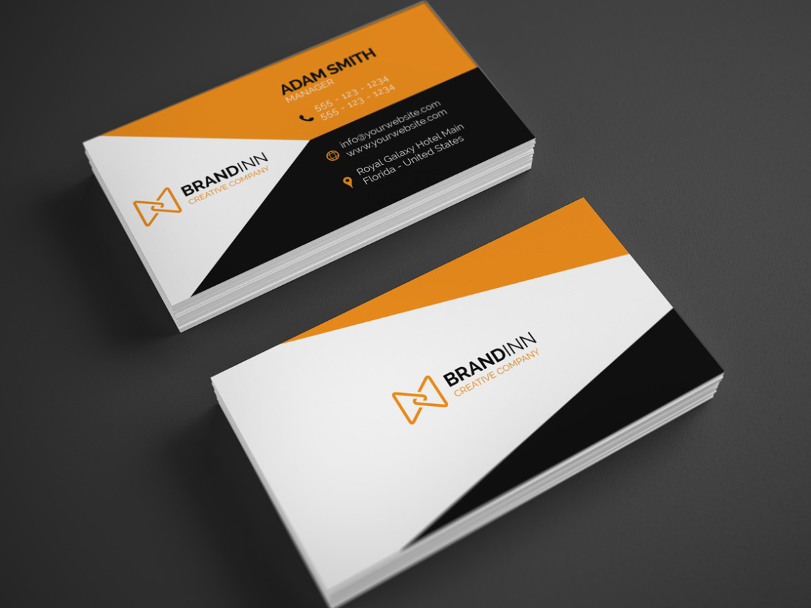 Creative Orange Business Card 23 - Graphic Pick