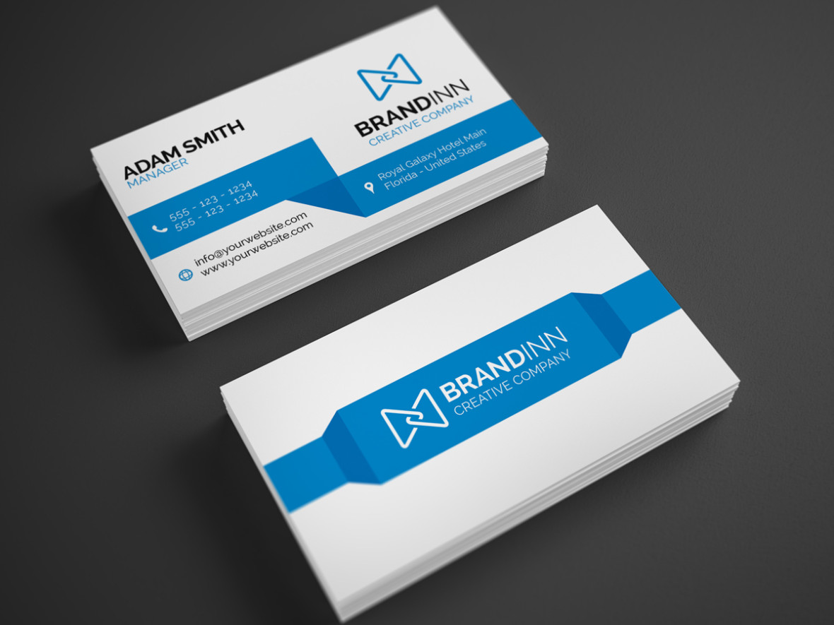 Modern business card 22 graphic pick creative corporate business card is a modern and professional print template for company or business files are fully editable all elements are in high magicingreecefo Choice Image