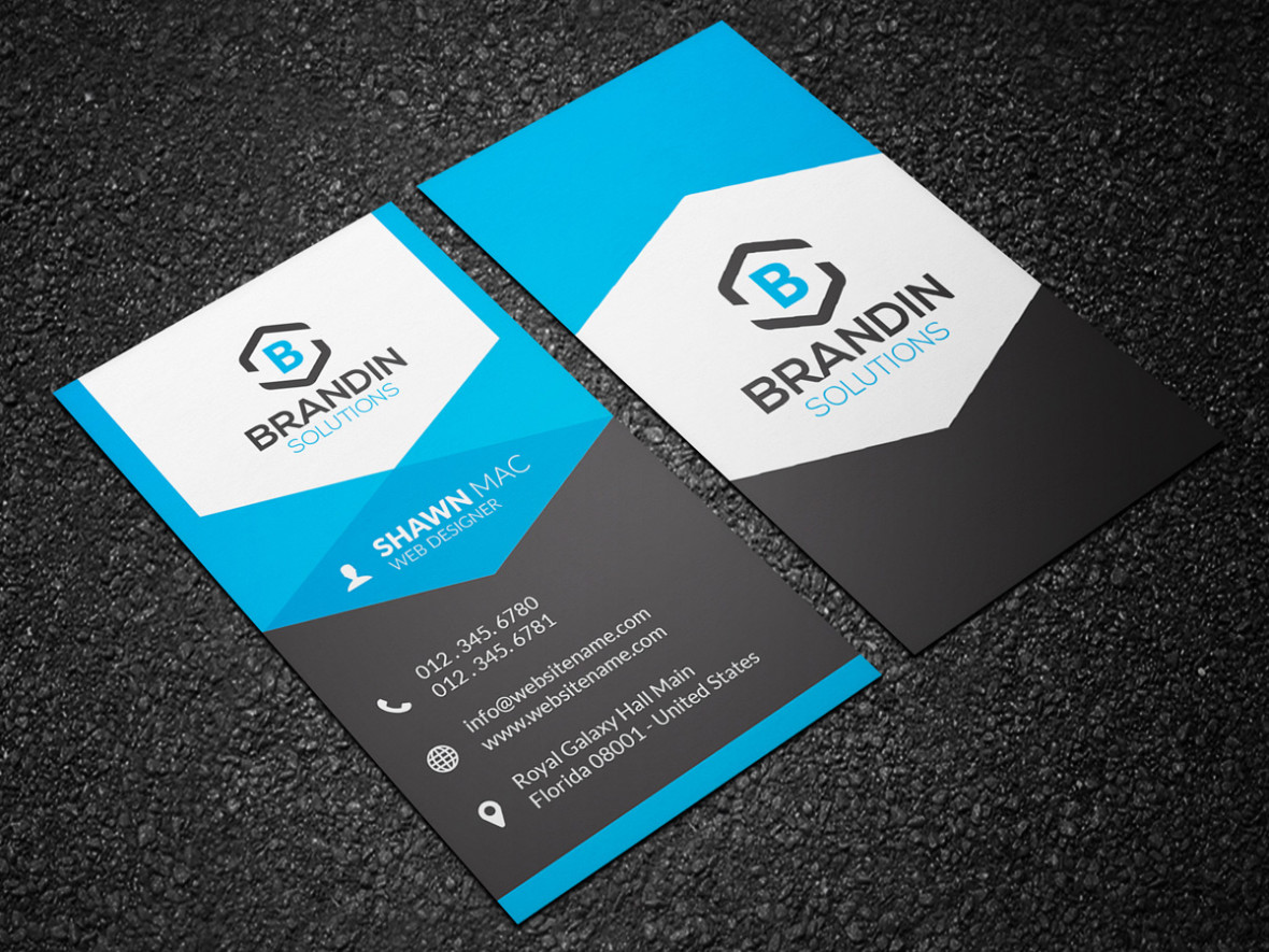 Modern Vertical Business Card 25 - Graphic Pick