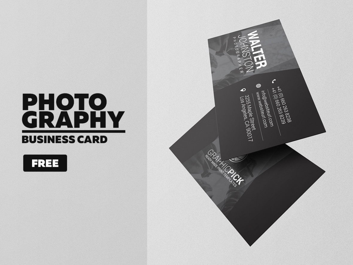Free Photography Business Card Graphic Pick - Photography business cards templates free