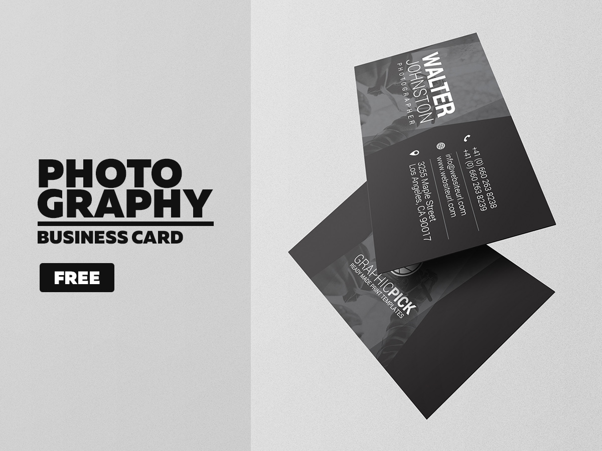 Free Photography Business Card - Graphic Pick