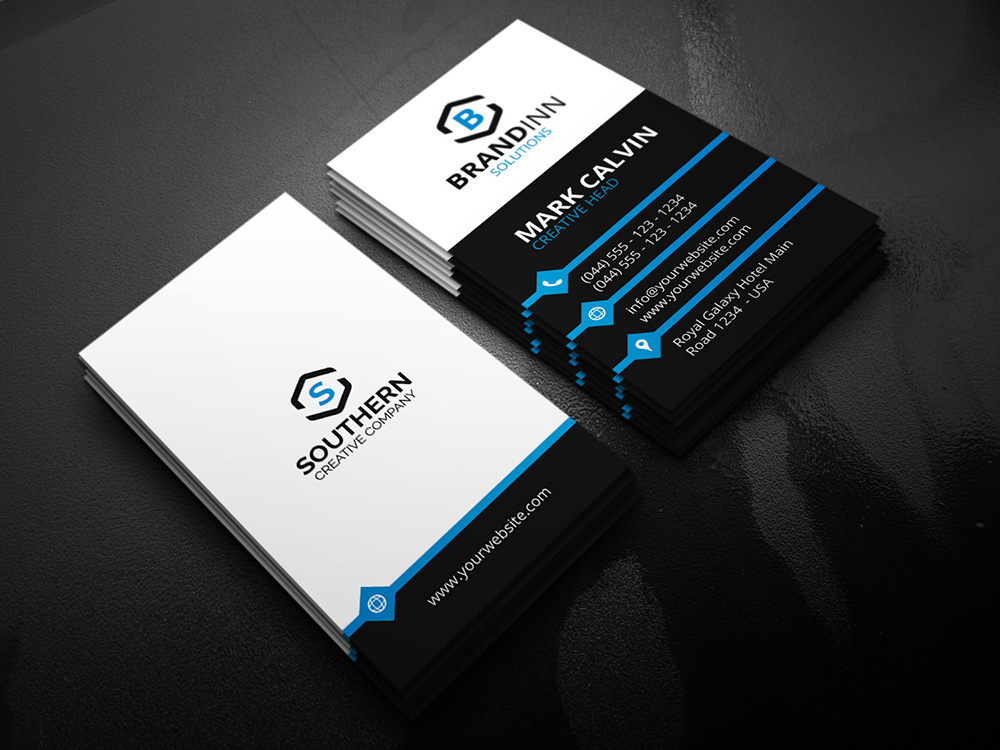 Creative Vertical Business Card Graphic Pick - Business card vertical template