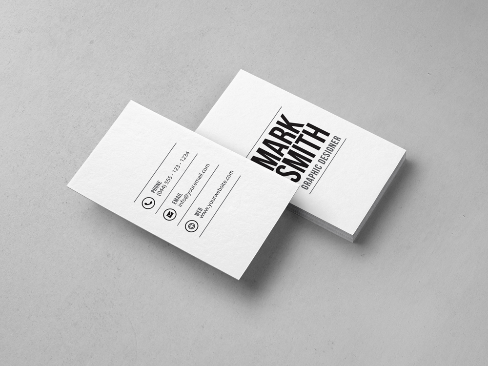 Minimal business card template 28 graphic pick minimal business card is a simple and clean print template for freelancers or individual business owners files are fully editable all elements are in high fbccfo Choice Image