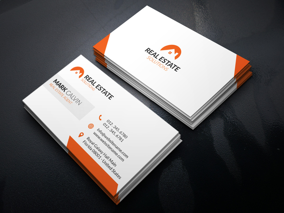 Real estate business card 29 graphic pick real estate business card is a modern and professional print template for real estate company or real estate business files are fully editable accmission Images