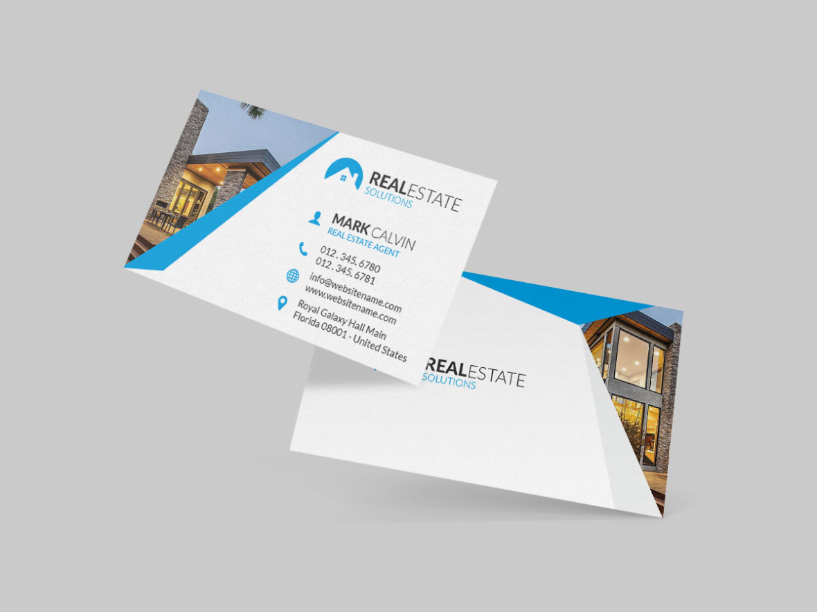 Real Estate Business Card Graphic Pick - Real estate business card template
