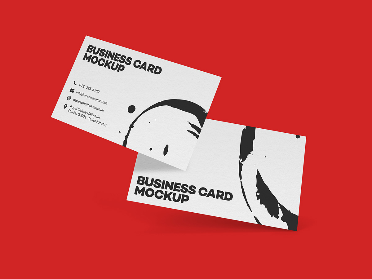 business card mockup 1-