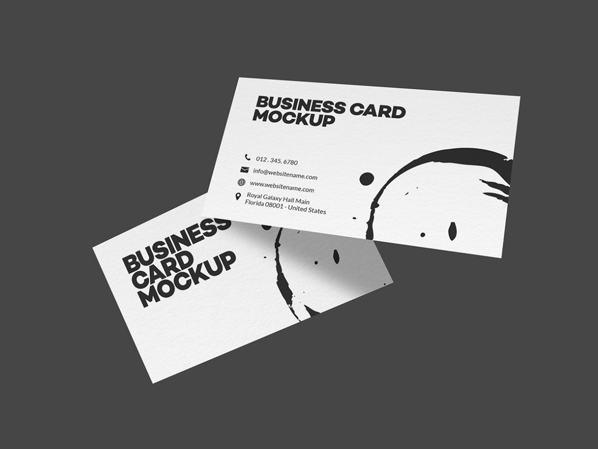 Flying business card mockups graphic pick create a realistic display for your business cards in few seconds psd file uses the smart object feature so you can replace mock up content easily and reheart Images