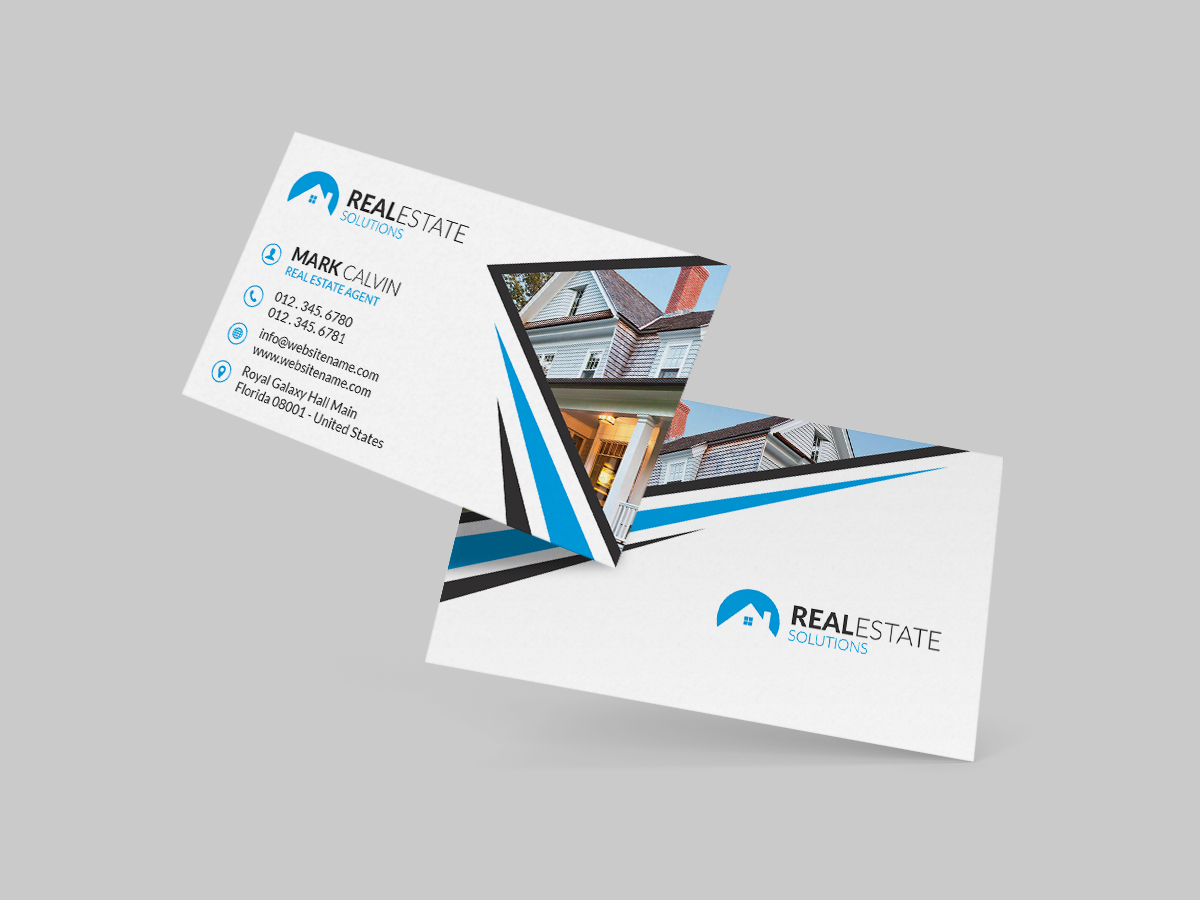 Real Estate Business Cards : Real estate business card graphic pick