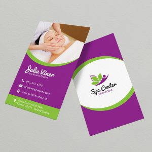 Beauty Salon Spa Business Card 35
