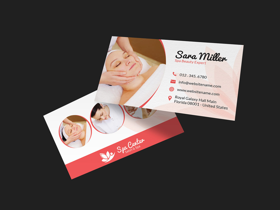 Beauty salon spa business card 36 graphic pick for Salon business card templates