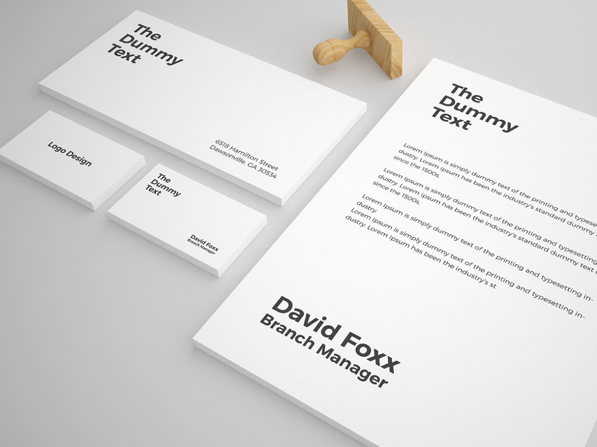 Free Stationery Mock Up Template Graphic Pick