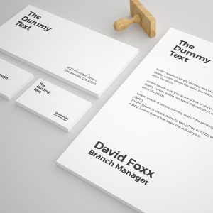 Free Stationery Mock up Template