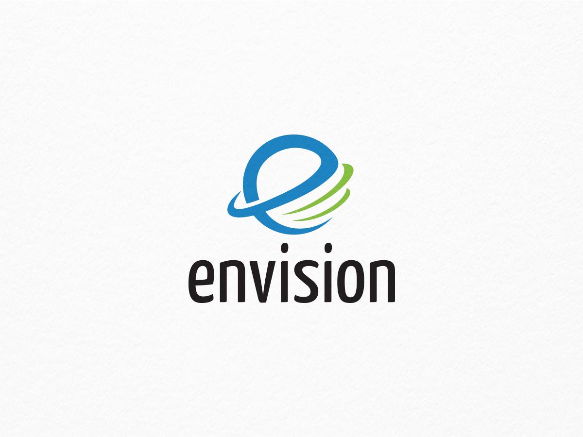 envision - e letter logo