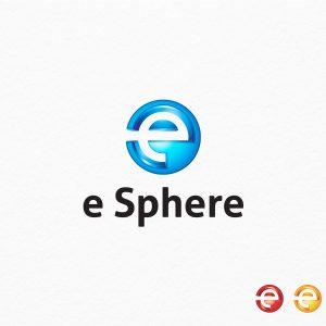 E Sphere – E Letter Logo