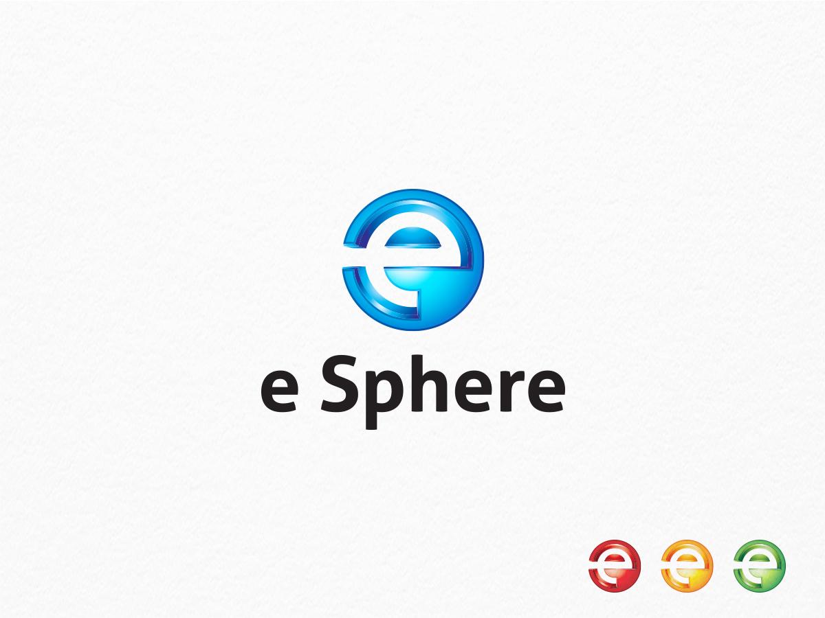 e sphere e letter logo graphic pick