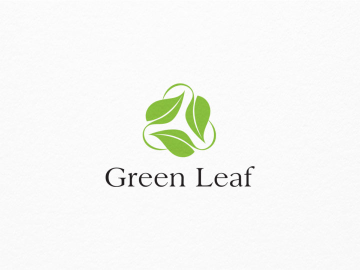 eco green leaf logo
