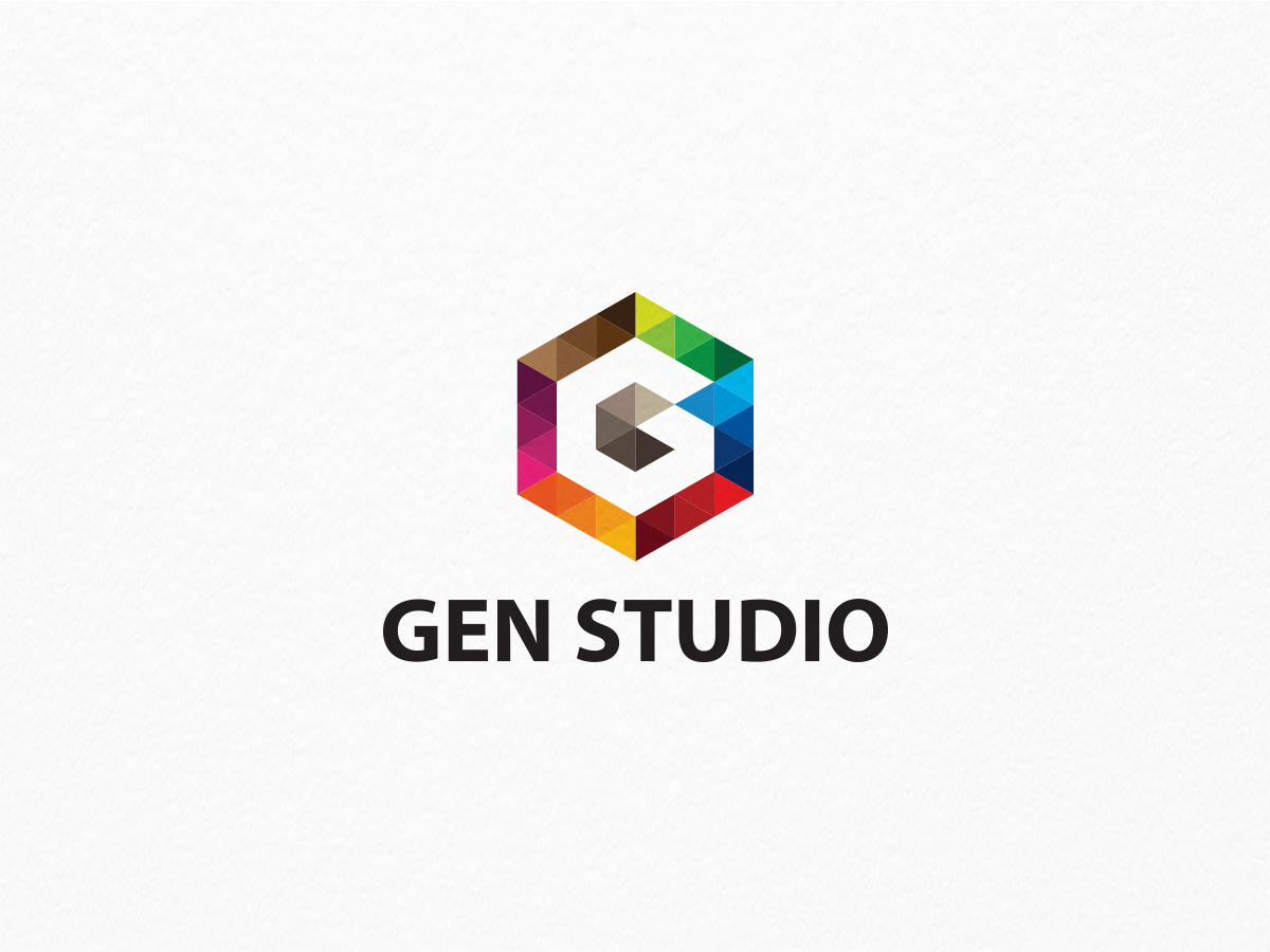 gen studio g letter logo graphic pick