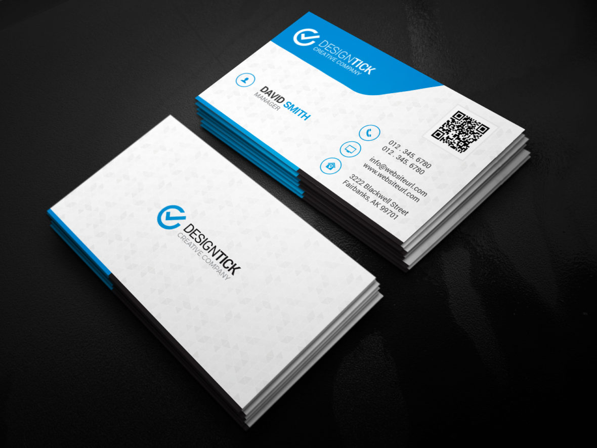 Custom Card Template buisness cards : Modern Business Card Template 122 - Graphic Pick