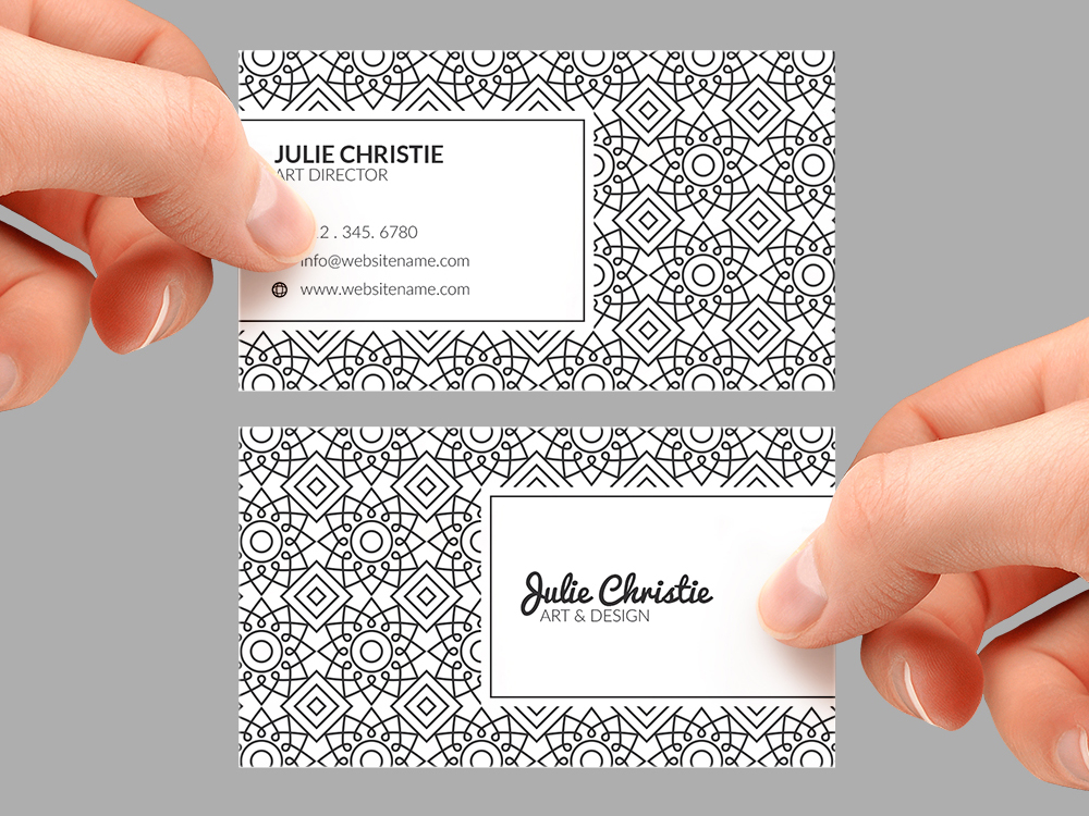 vintage business card 0
