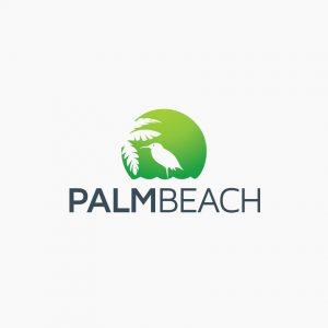 Beach Palm Tree Logo