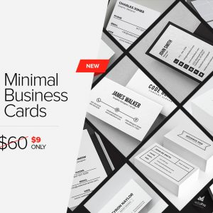 7 Clean Minimal Business Cards – V4