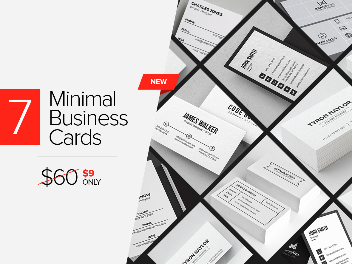 Clean Minimal Business Cards V Graphic Pick - Ups business card template
