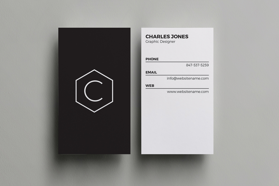7 clean minimal business cards - v4