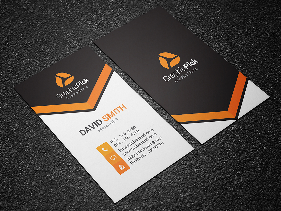 Modern creative business card 139 graphic pick creative business card is a modern and professional print template for company or business files are fully editable all elements are in high quality reheart Image collections