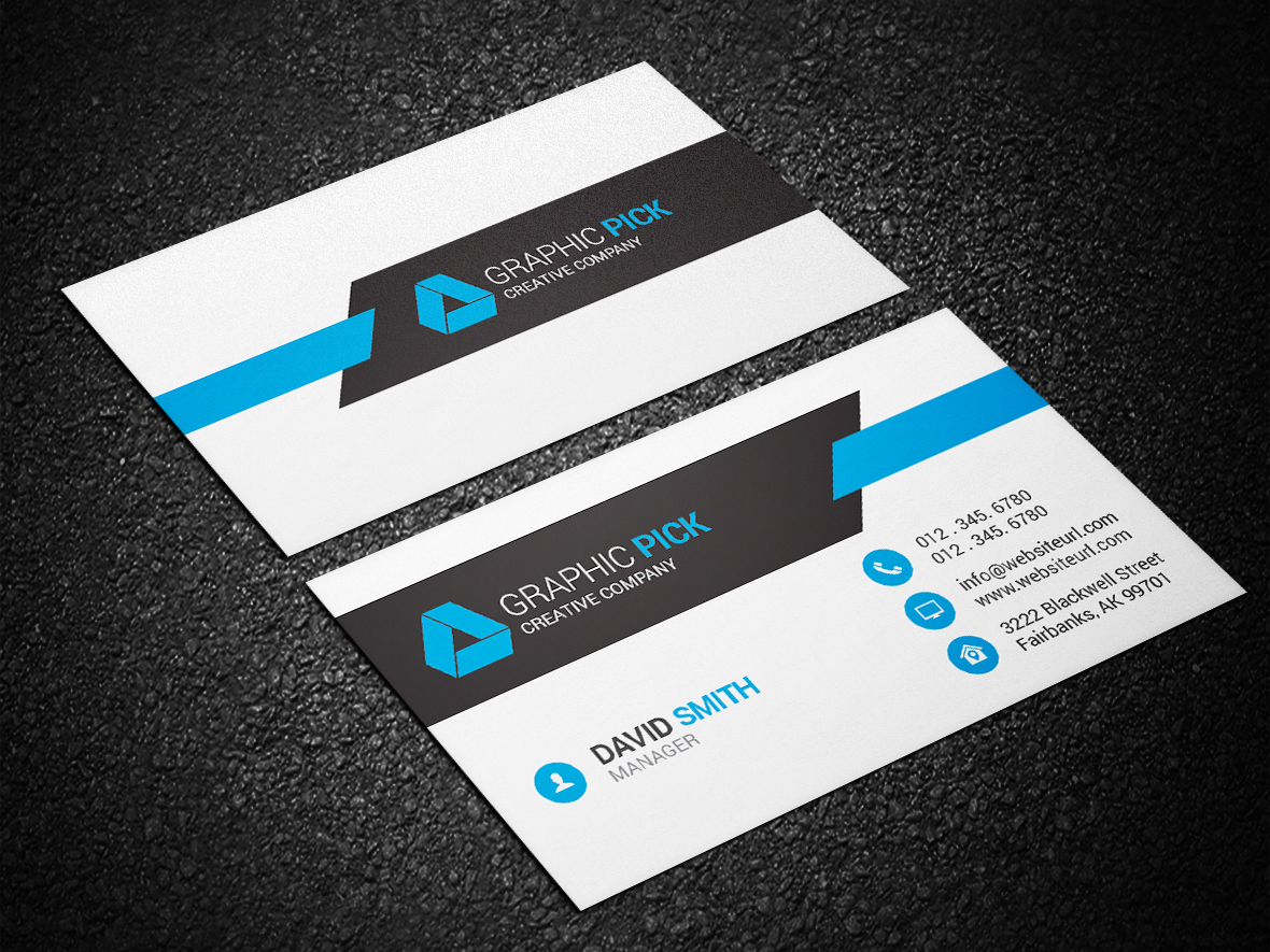 Modern business card 137 graphic pick creative business card is a modern and professional print template for company or business files are fully editable all elements are in high quality reheart Image collections