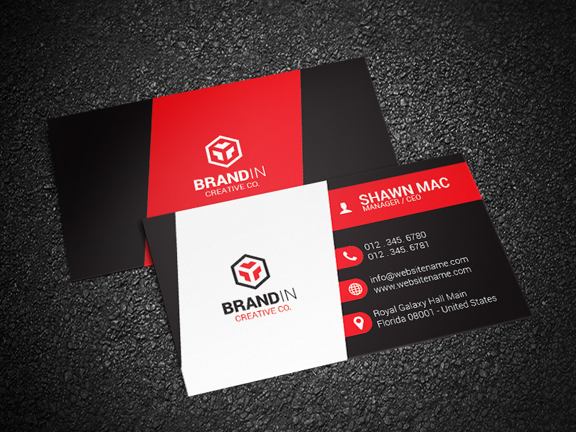 Red business card this red business card is a modern and professional print template for company or business red business card has all the important elements fbccfo Choice Image