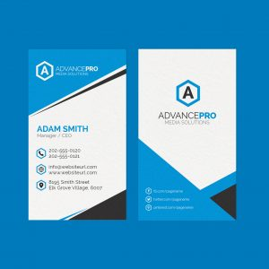 Vertical Creative Business Card 53